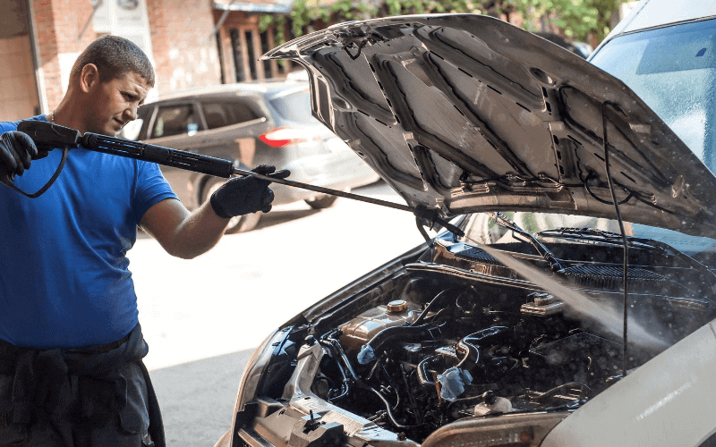 How To Pressure Wash a Car Engine
