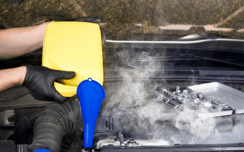 Insufficient Coolant causes car overheat