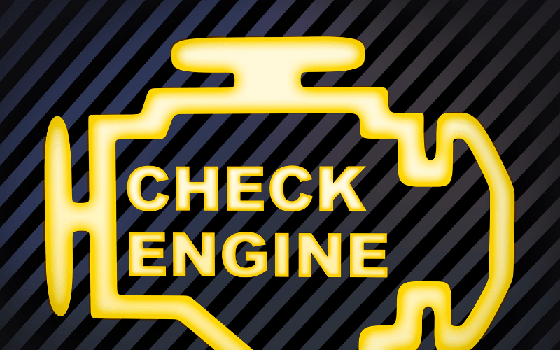 Check Engine Light or ABS Light On Dashboard