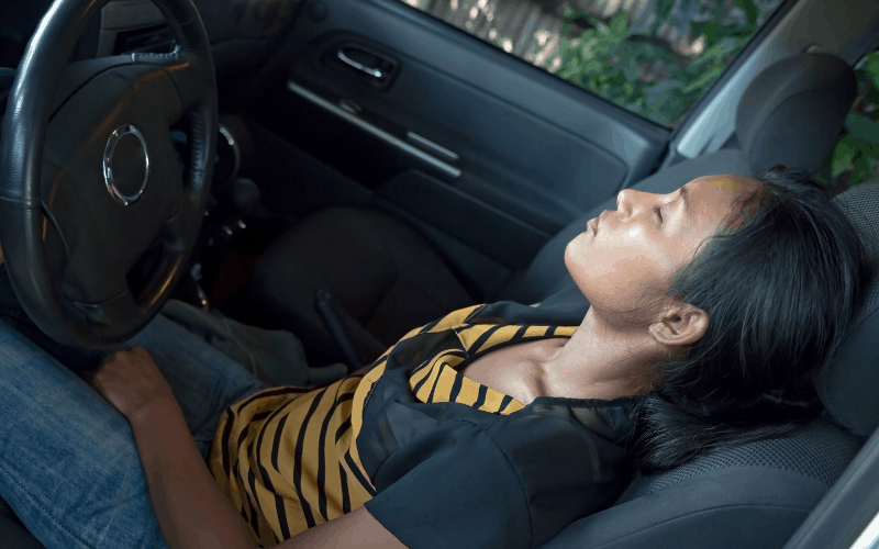 How To Sleep Comfortably In The Front Seat Of Your Car