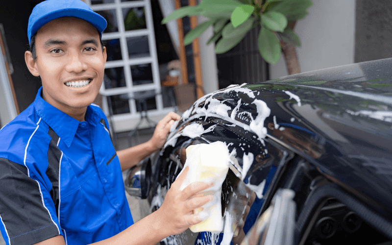 How To Wash A Black Car Without Water Spots